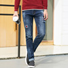 Fashion mens trousers zip off pants denim jeans dubai chinese clothes oem man dress bangkok clothing