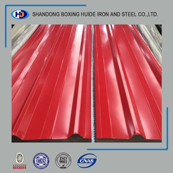 High tensile strength colored galvanized corrugated sheet
