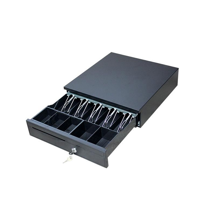 Metal mini 3 key lock  5bills 5 coin cash drawer RJ11 Metal cash drawer with heavy-duty ball bearing roller