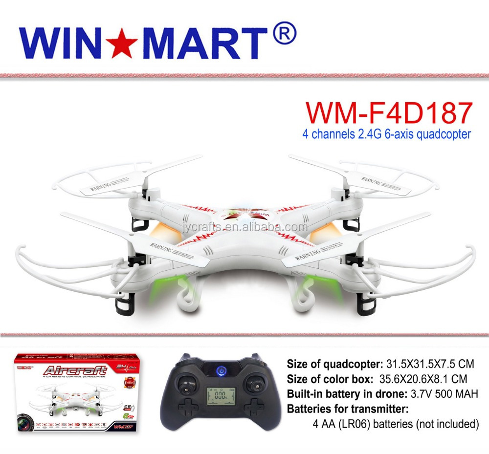 WM-F4D187 2.4Ghz 4ch 6 Axis gyro rc helicopter drone manufacturer