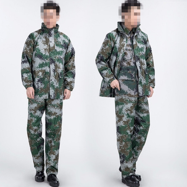 Soldier's raincoat Military mens Camouflage poncho raincoat