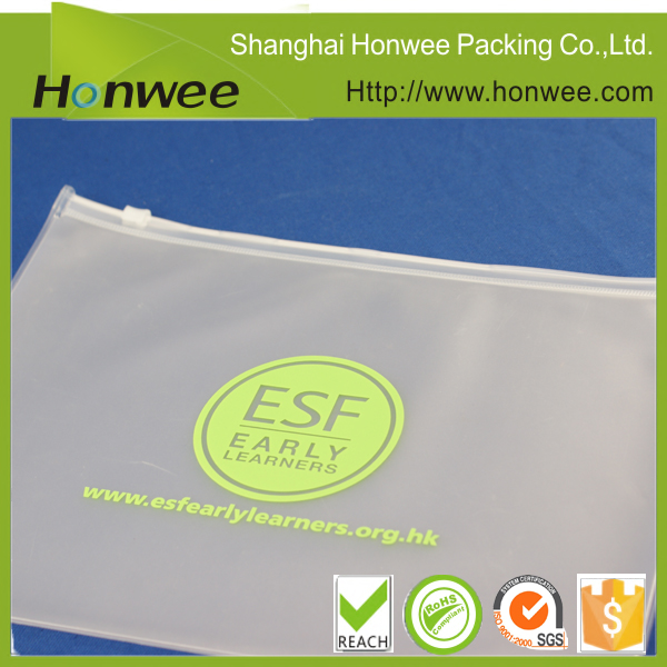 customized EVA or PVC vinyl plastic bag document wallet with zipper