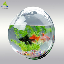 Wholesale wall mounted clear round acrylic fish tank