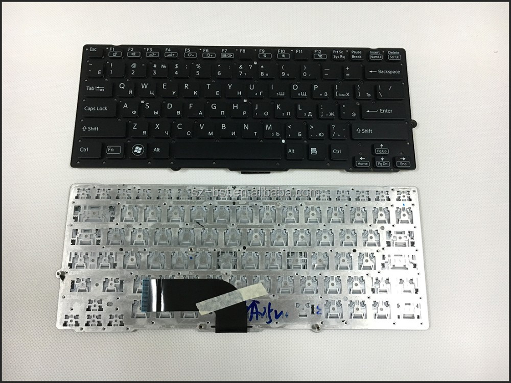 For Sony Vaio VPC-SB VPC-SD black without frame Russian RU layout Laptop Keyboard