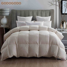 Classic Design 200Gsm Heavy Extra Warm Winter Feather Comforter King Size 100% Goose Filling Luxury Down Quilt
