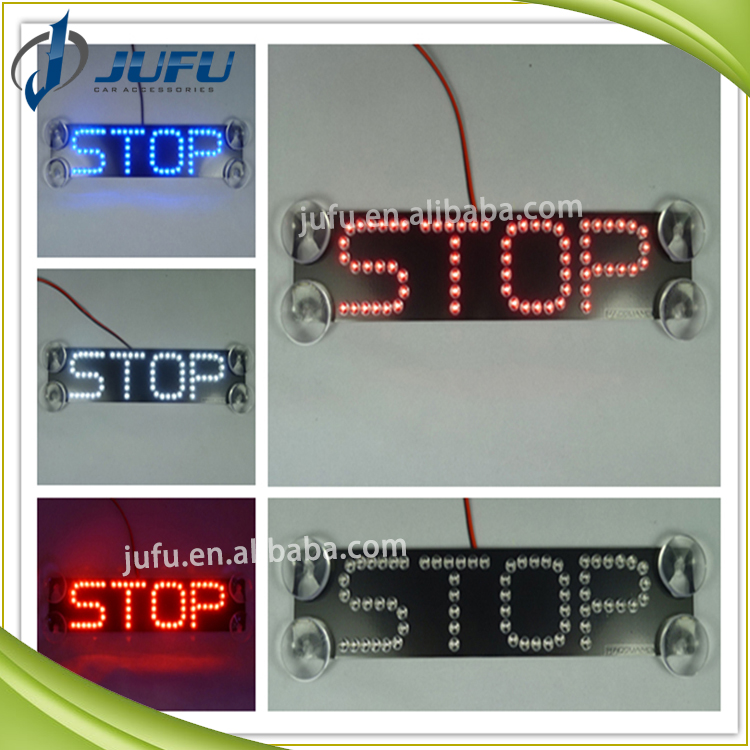12V red blue white green yellow easy installation auto LED brake light with suction cup car tail light