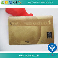 Silk Gold Plated T5577 RFID Card Great Solution for Hotel Key Lock