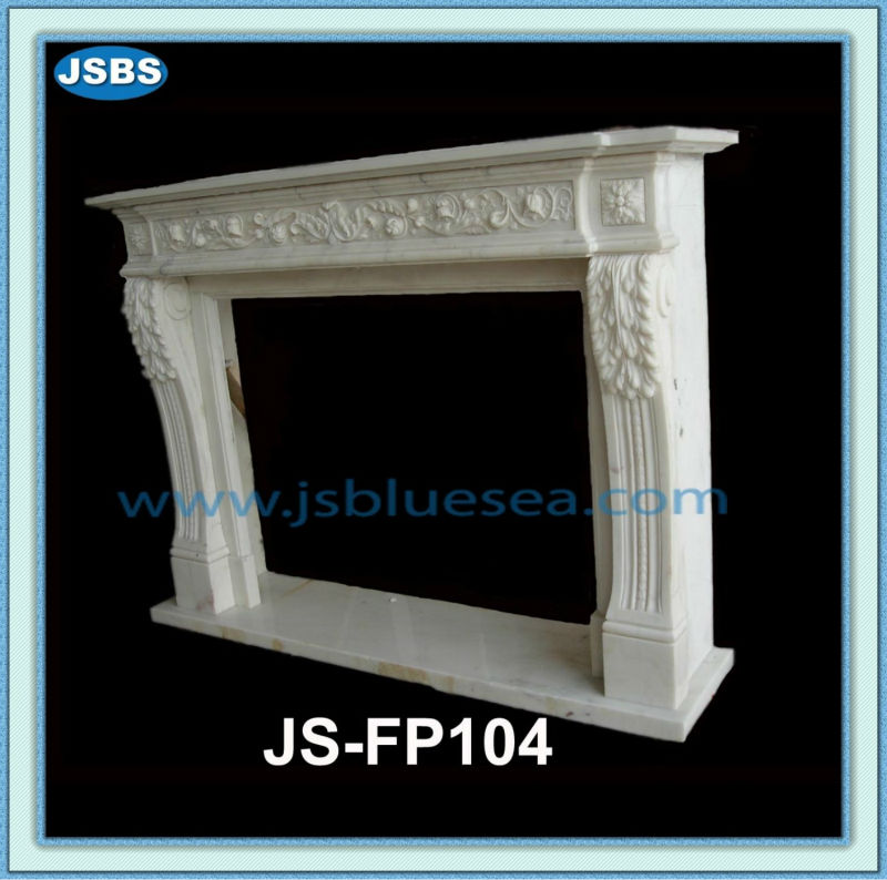Moderne d 39 int rieur design fleur sculpture chemin e en pierre blanche chemin e id de produit - Nettoyage pierre blanche cheminee ...