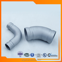 DIN standard SS304 reducer fitting pipe grooved products 90 degree elbow