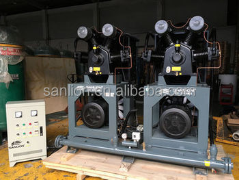 ISO 37KW & 30bar Portable High Pressure Piston Air Compressor for PET Blow Machine