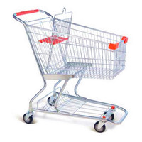 cheap wire metal shopping trolley price