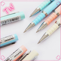 Beautiful best quality stationery items for gift ,Cheap customized logo indelible ink pens colorful plastic glitter gel pen