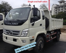 Overseas service available of Foton Forland 4X4 6 ton small dump truck for sale in Burma