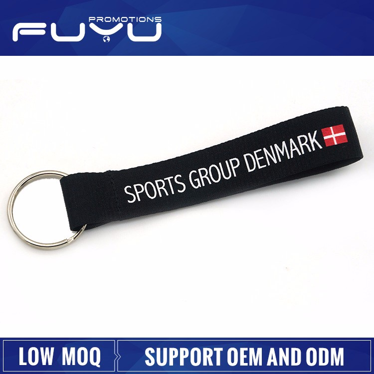 China Flag Oem Custom Lanyard Promotion Keychain