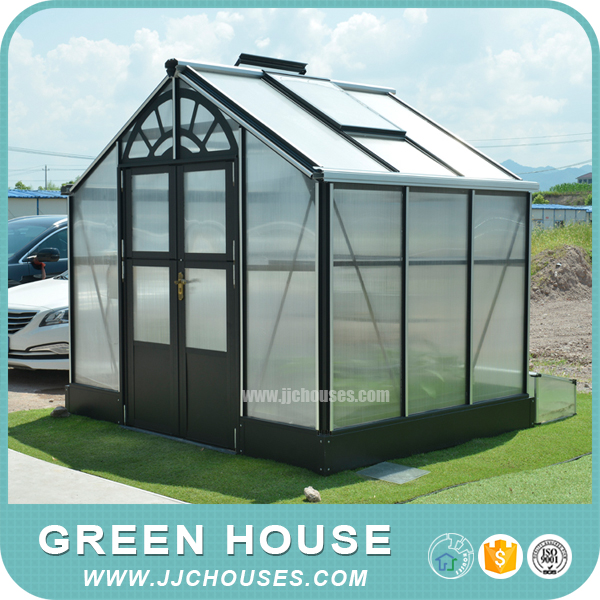 Small PC-sheet Covered garden greenhouse,indoor aluminum mini greenhouse,European style cheap greenhouse