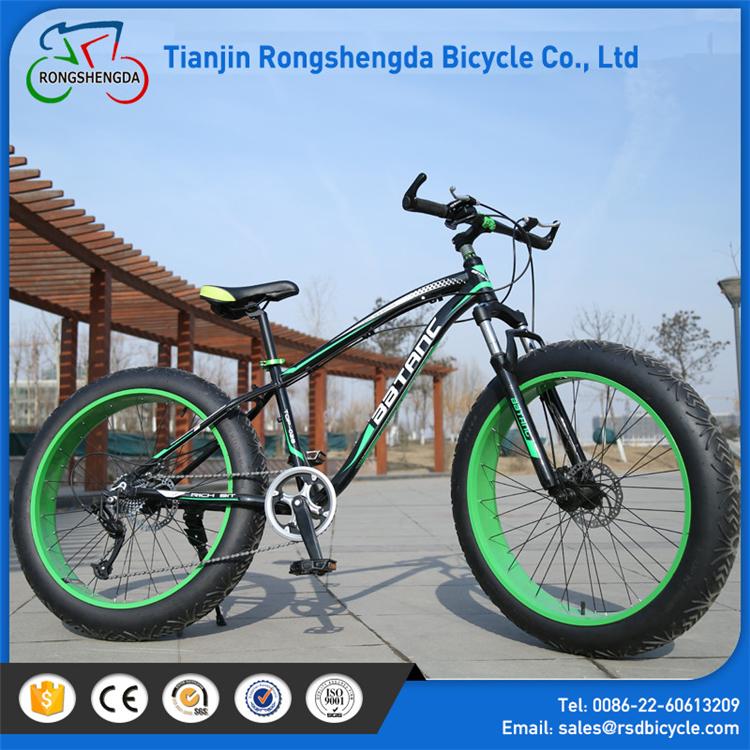 2017 high quality full suspension 7 Speeds fat tire bike /fat bike bicycle with steel fenders