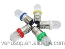 E10 LED 1w DC12V lights white/warm white/blue/yellow/red/green/pink LED lamp ,wholesale