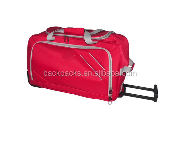 Trolley Bag with half lining inside' Made of 1680D imitation nylon' Measures