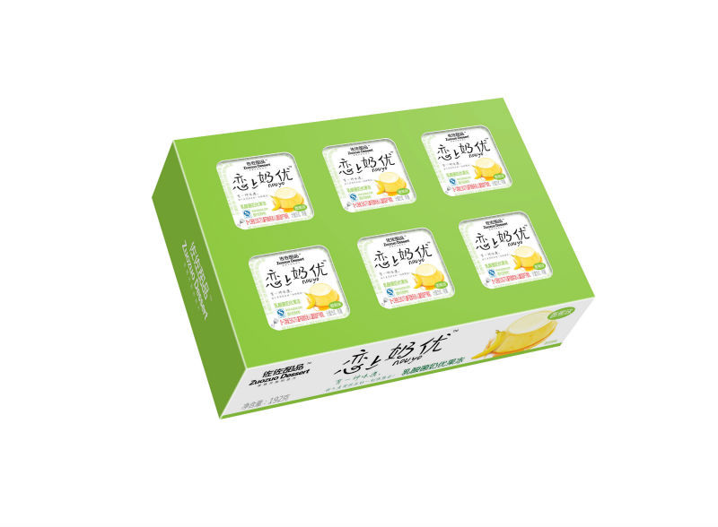 192g box packing mini fruit jelly cup fruit jelly
