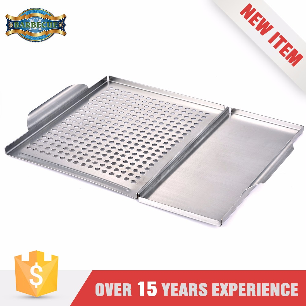 Stainless Steel BBQ Grill Grid with Plank Holder Combo