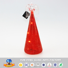 Hot sell decorative popular glass angel with LED light