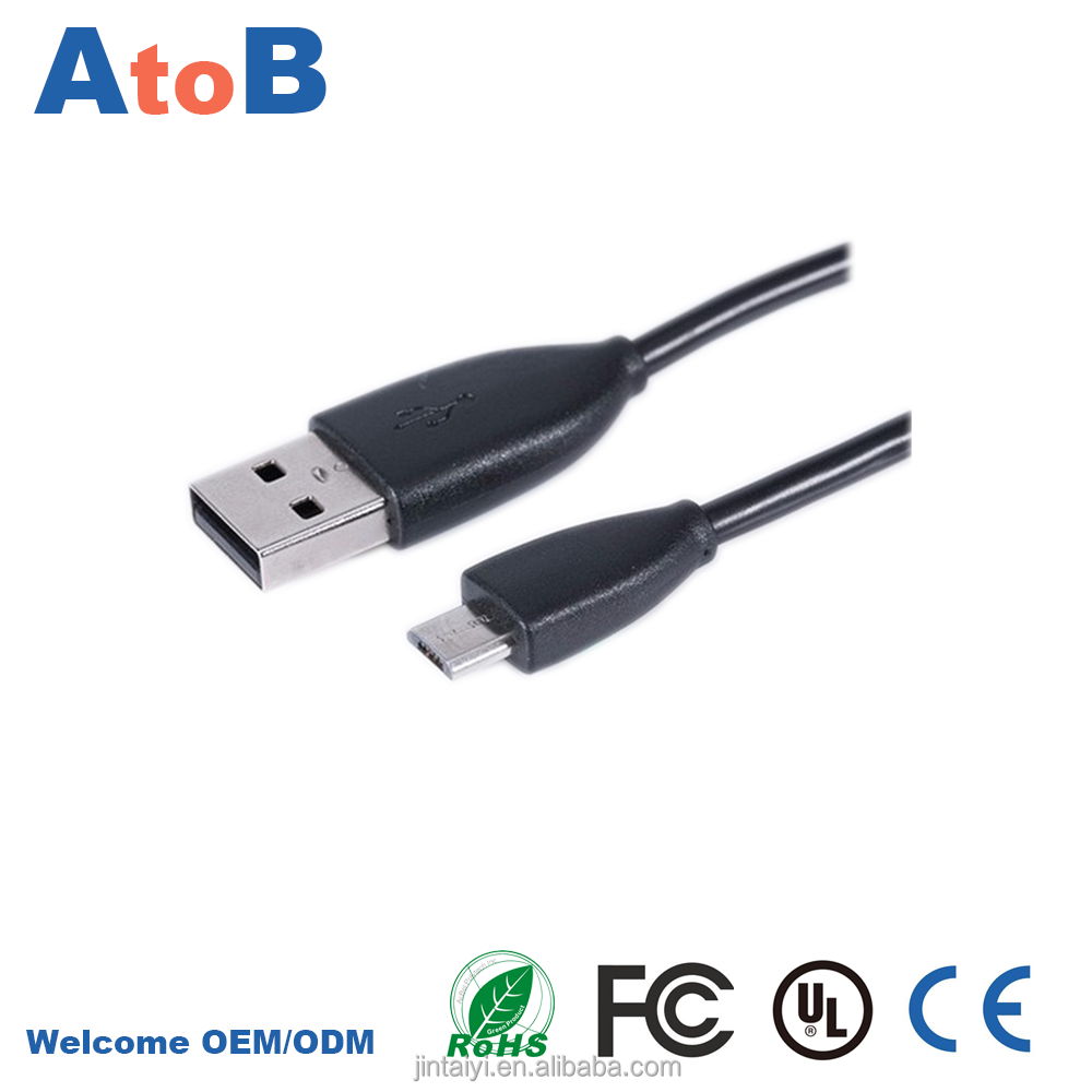 micro usb data cable for double micro usb data cable with fast charger