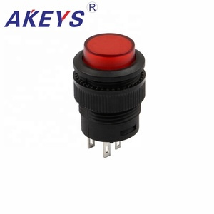 R16-503 4 pins red emergency stop push button switch
