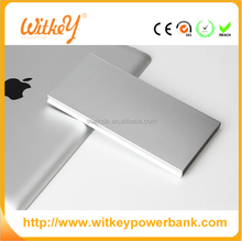 Dual USB quick charge 2.0 aluminium portable power bank metal wire drawing panel smart digital