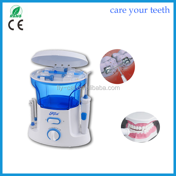 Flycat oral hygiene dentist gift electric operated tooth pick dental water jet water flosser sell all over the world