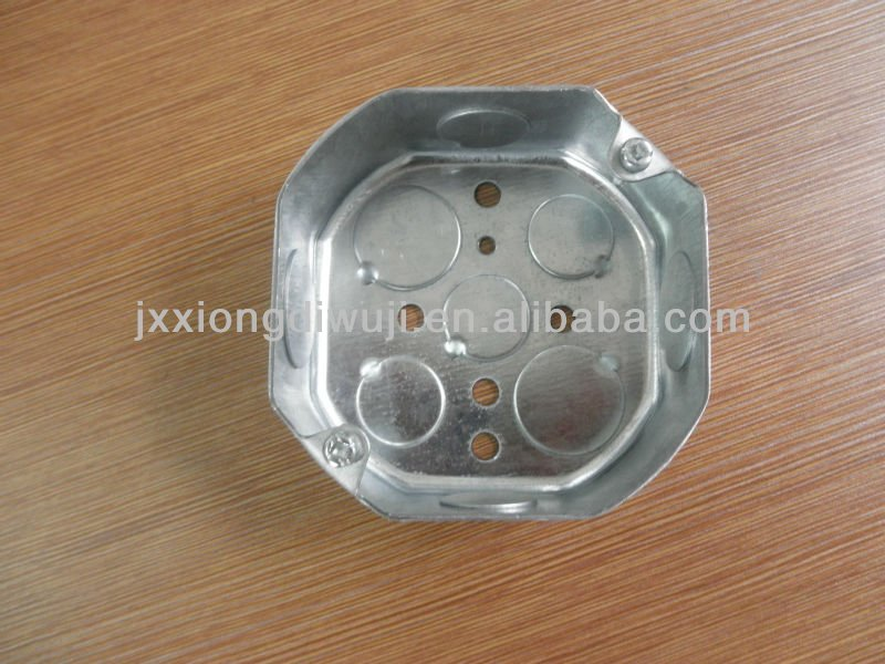 "Jiaxing Brothers Galvanized steel 4""Octagonal Electrical box manufacture"