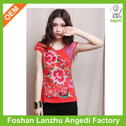 sexy girls printed t-shirt factory price