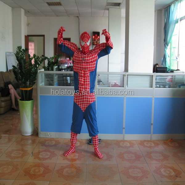 Hola movie spiderman costume/movie cartoon mascot costume for adult