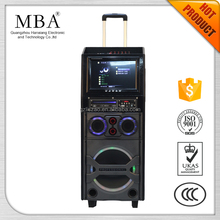 New model DV-12 portable active speaker with rechargeable battery/DVD player /USB/SD interface