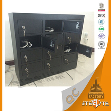 Wholesale cheap price key operated wall mounted or free-standing self-service mobile phone charging lockers