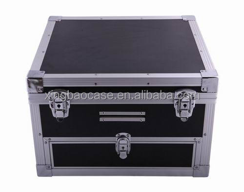 High Quality Aluminum Metal Hard Carrying Travel Case Briefcase Tool Case With Drawer