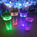 Party Supplies Popular Plastic Colorful Led Flashing Juice Glass Cup