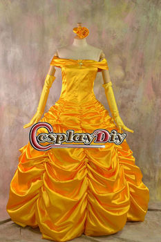 2013 Hot sale Deluxe Heavy Satin Belle Costume from Beauty and the Beast