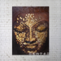 Buddha face oil painting