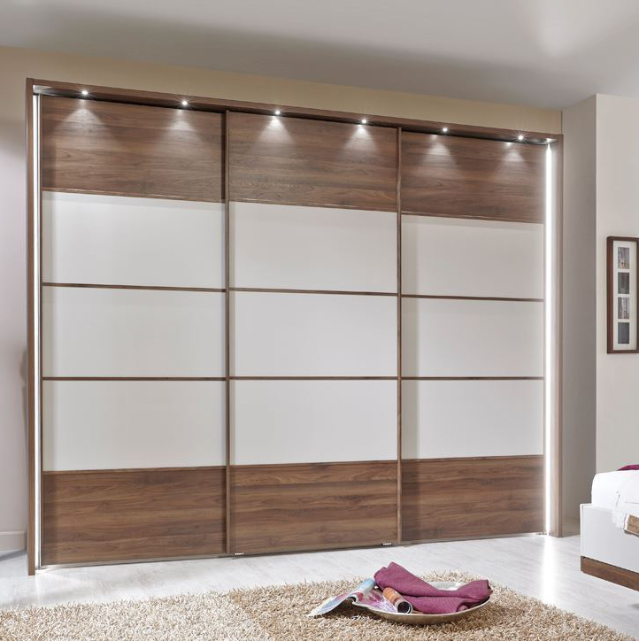 China Wooden Wall Almirah Designs With Mirror In Bedroom