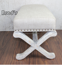 Unique design China manufacturer wholesale footstool frames in wood
