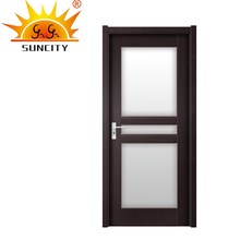 SC-P185 China wholesale wood door design window inserts with glass