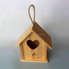 wholesale new unfinished house shaped wooden bird cages