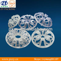 Acid resistant plastic tellerette ring ,teller rosette packing.plastic tower filler,tower internals