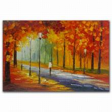 meaningful pictures abstract natural tree canvas autumn landscape art painting