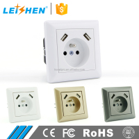 EU French Type Wall Socket 250v