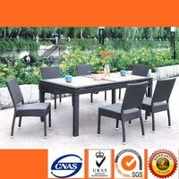 HL6016 Modern Rattan Dining Set With