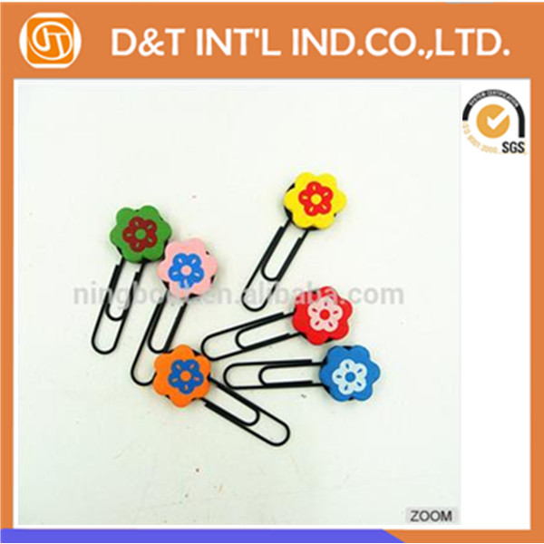 Direct factory wholesale Customized paper <strong>clips</strong>, Colorful flower shaped paper <strong>clips</strong>