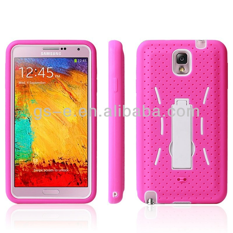 Hybird 3 in 1 robot Kickstand Case for Samsung Galaxy Note 3, back cover case for Galaxy Note 3 cellphone case