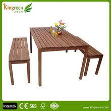 2015 hot sale new brushed aluminum UV Plastic Wood dining outdoor/garden WPC furniture