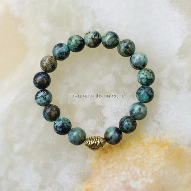 African Turquoise Bracelet,Mens Beaded Bracelet,Turquoise Bracelet,Gift for Him,Mens Bracelet,Mens Jewelry,Lion Head Bracelet,Green Bracelet.jpg